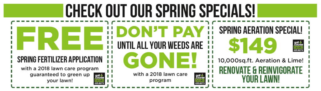Golf Course Lawns LLC Raymond NH Spring Specials